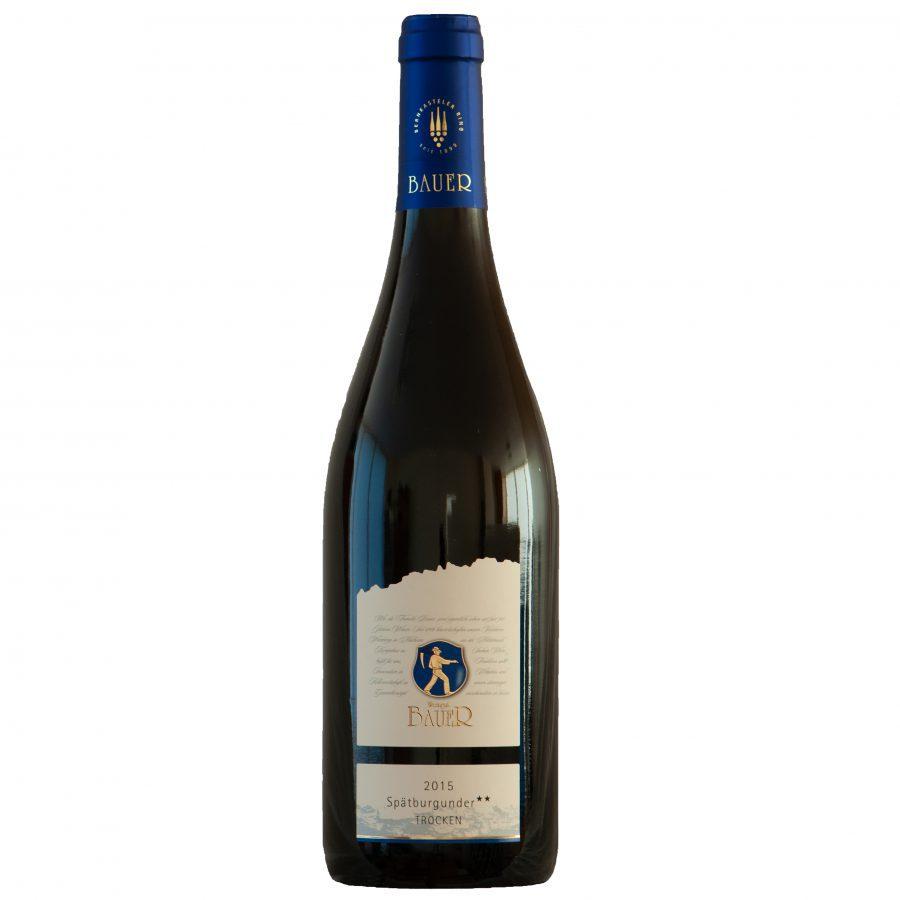 Bauer Spätburgunder Trocken zwei Sterne rode-wijn