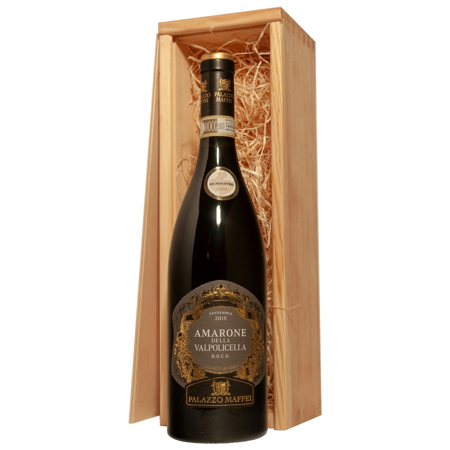 Amarone in luxe houten kist